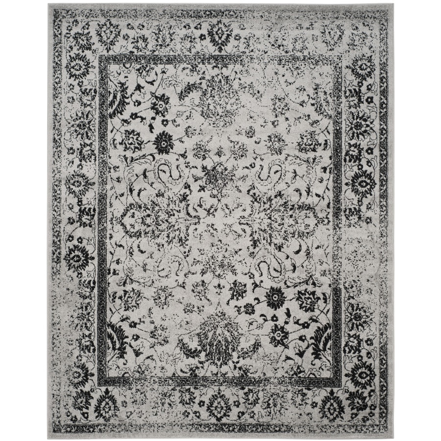 Safavieh Adirondack Grey/Black Rectangular Indoor Machine-Made Area Rug