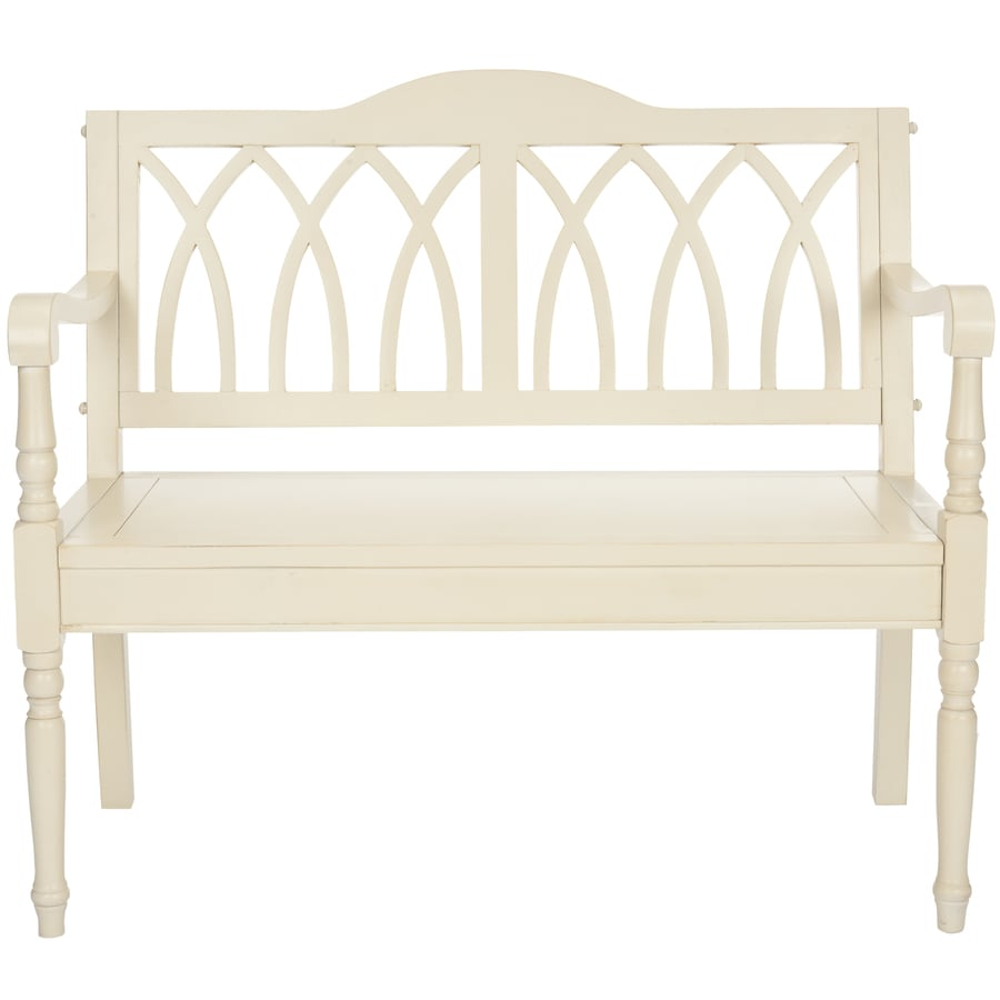 Shop Safavieh American Home Distressed White Indoor Entryway Bench ...
