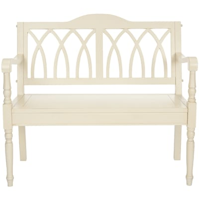Cool Safavieh Benjamin Casual Distressed White Accent Bench At Ocoug Best Dining Table And Chair Ideas Images Ocougorg