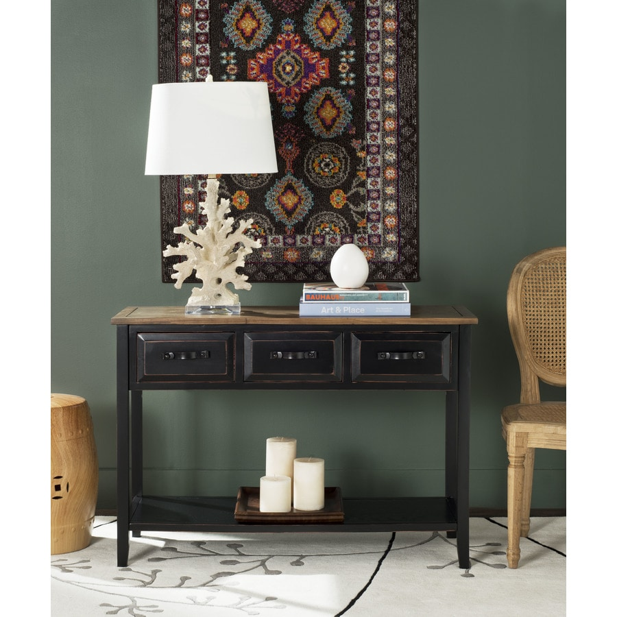Safavieh Aiden Oak Wood Casual Console Table