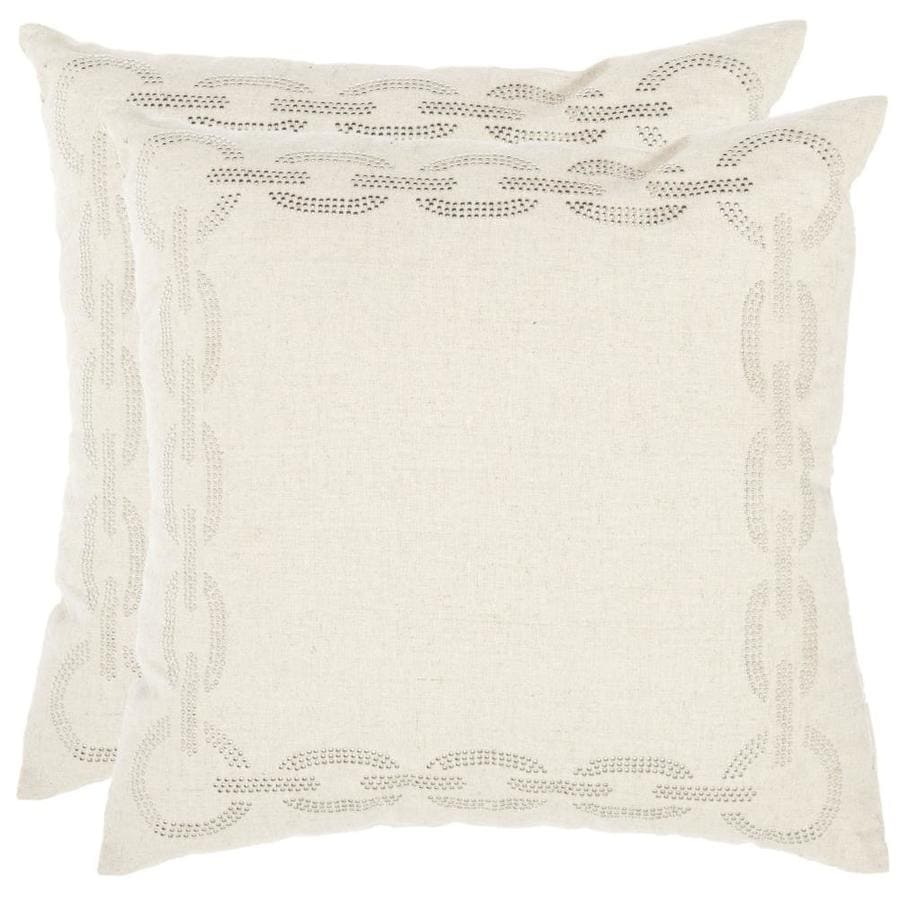 Safavieh Sibine 2-Piece 22-in W x 22-in L Cement Indoor Decorative Pillow