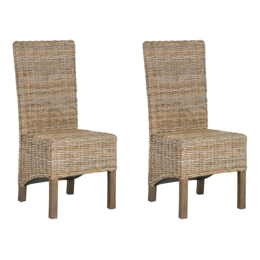 Safavieh Set Of 2 Pembrooke Coastal Natural Accent Chair In The Chairs Department At Lowes Com