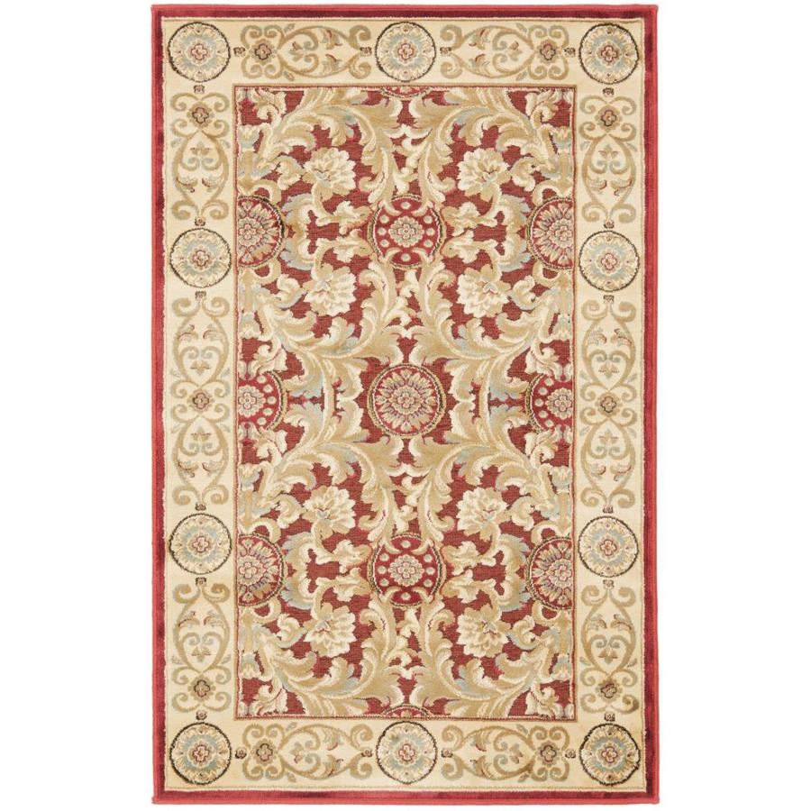 Safavieh Paradise Madera Red Indoor Oriental Throw Rug (Common: 2 x 4; Actual: 2.6-ft W x 4-ft L)