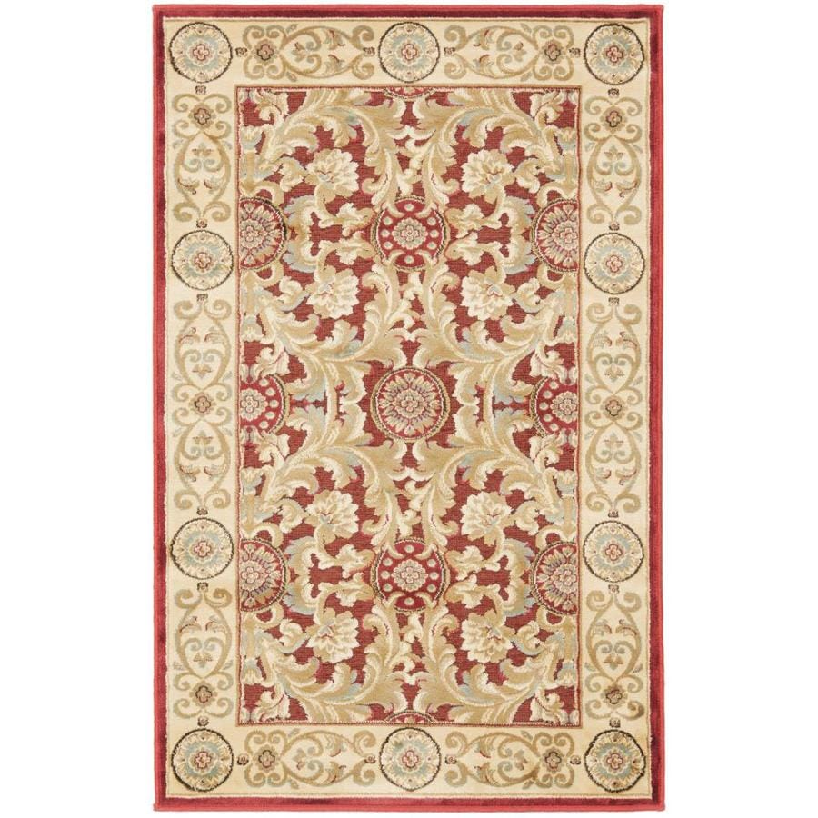 Safavieh Paradise Madera Red Rectangular Indoor Machine-made Oriental Area Rug (Common: 4 x 6; Actual: 4-ft W x 5.583-ft L)