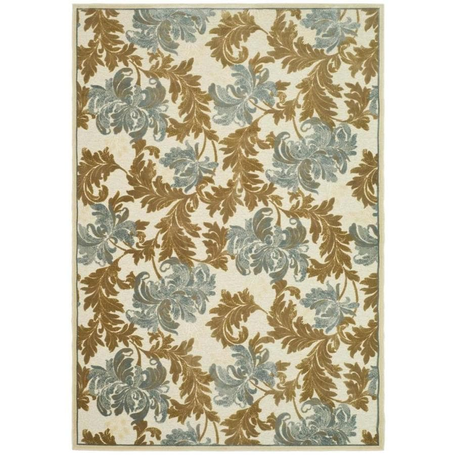 Safavieh Paradise Mizel Crme/Multi Rectangular Indoor Machine-made Oriental Area Rug (Common: 5 x 7; Actual: 5.25-ft W x 7.5-ft L)