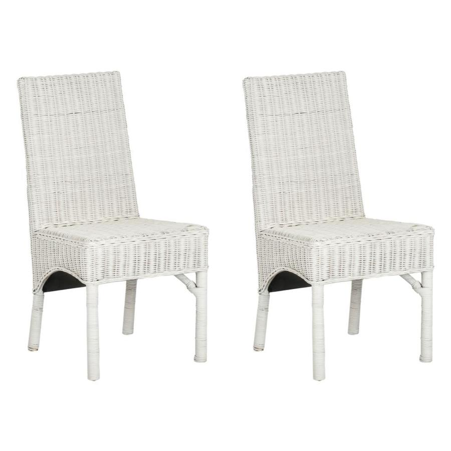 Safavieh Set of 2 Sommerset Coastal White Accent Chairs