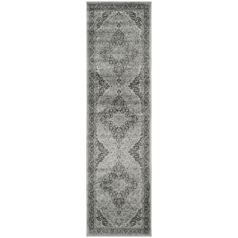 Safavieh Vintage Tabbas Light Blue/Multi Rectangular Indoor Machine-made Distressed Runner (Common: 2 x 6; Actual: 2.2-ft W x 6-ft L)
