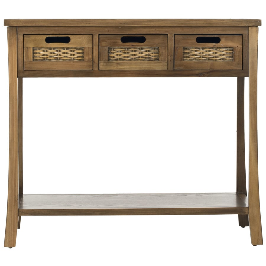 Safavieh American Home Brown Elm Rectangular Console and Sofa Table