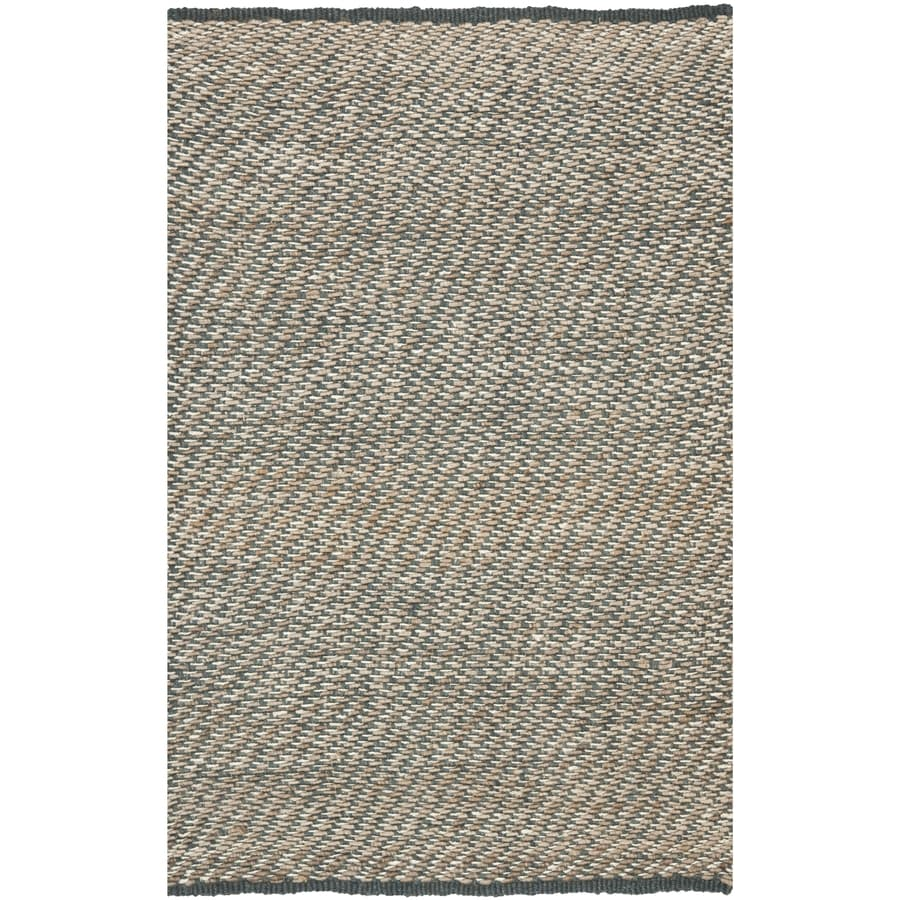 Safavieh Natural Fiber Munsey Blue/Natural Rectangular Indoor Handcrafted Coastal Area Rug (Common: 6 x 9; Actual: 6-ft W x 9-ft L)
