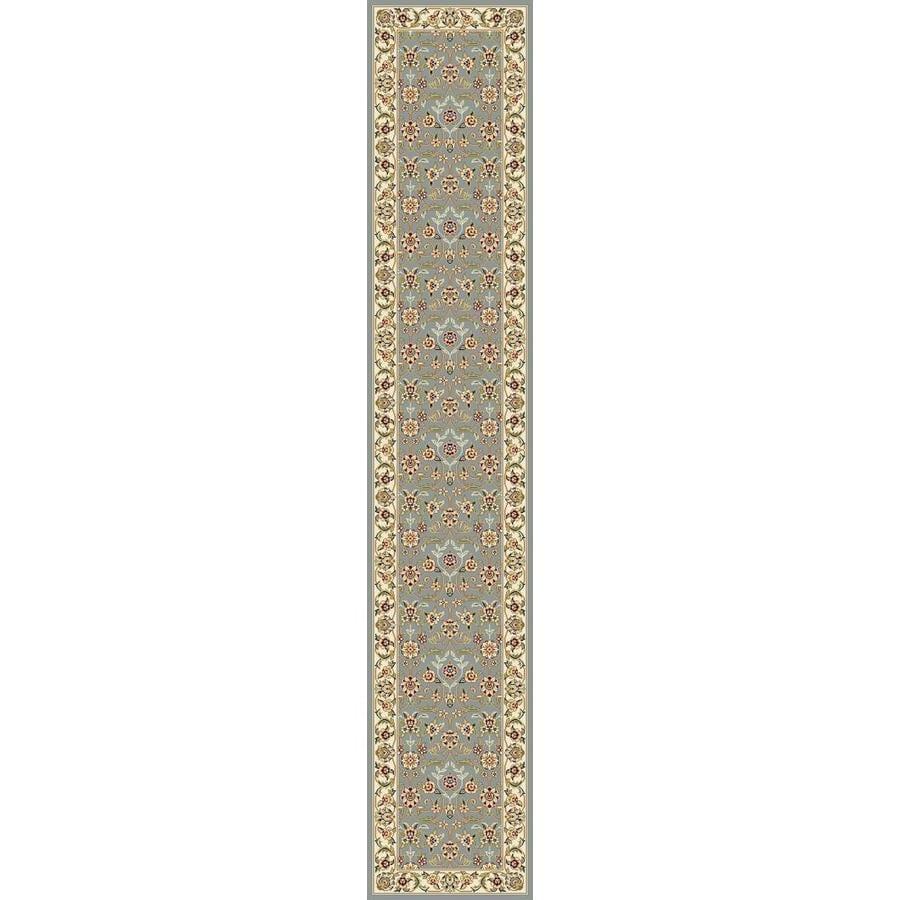 Safavieh Lyndhurst Qum Light Blue/Ivory Rectangular Indoor Machine-made Oriental Runner (Common: 2 x 10; Actual: 2.25-ft W x 10-ft L)
