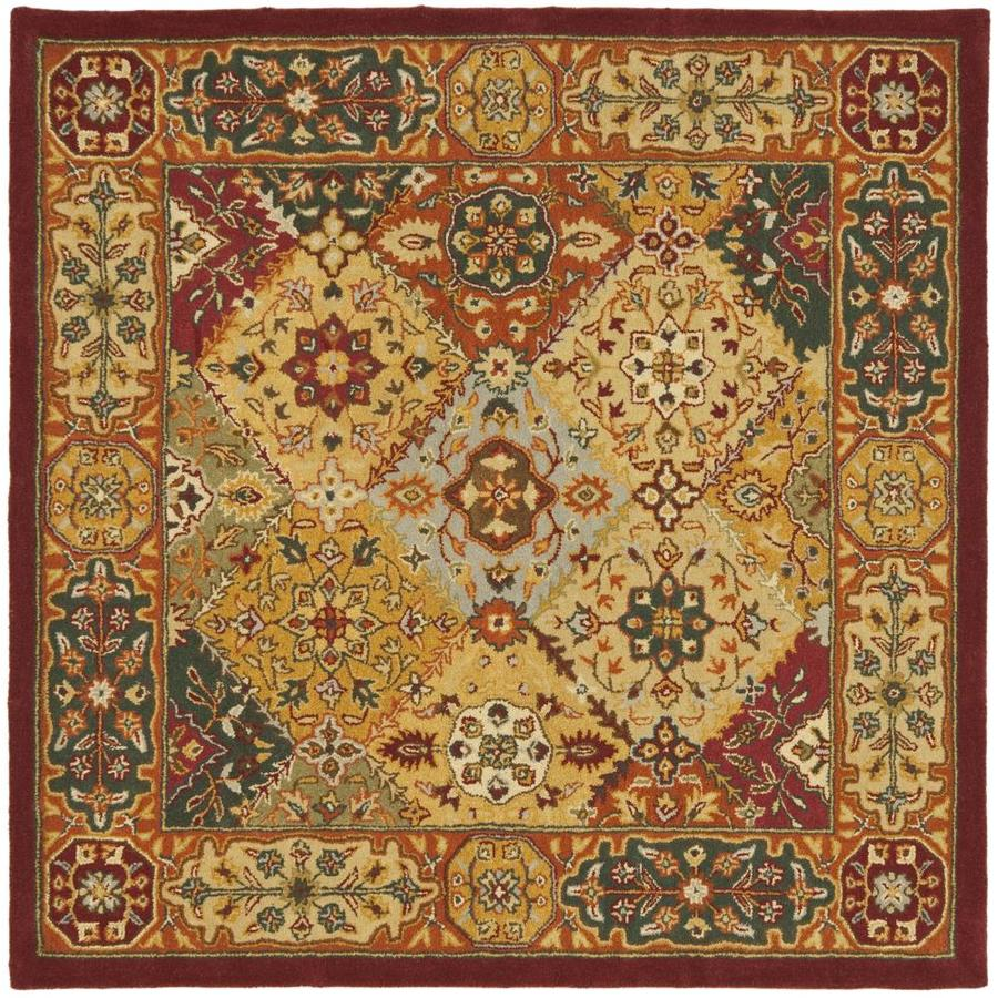 Safavieh Heritage Lavar Multi Square Indoor Handcrafted Oriental Area Rug (Common: 4 x 4; Actual: 4-ft W x 4-ft L)