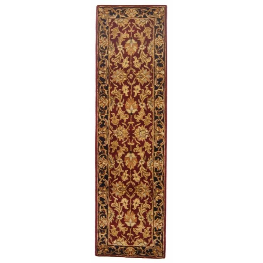 Safavieh Heritage Kashan Red/Black Indoor Handcrafted Oriental Runner (Common: 2 x 6; Actual: 2.25-ft W x 6-ft L)