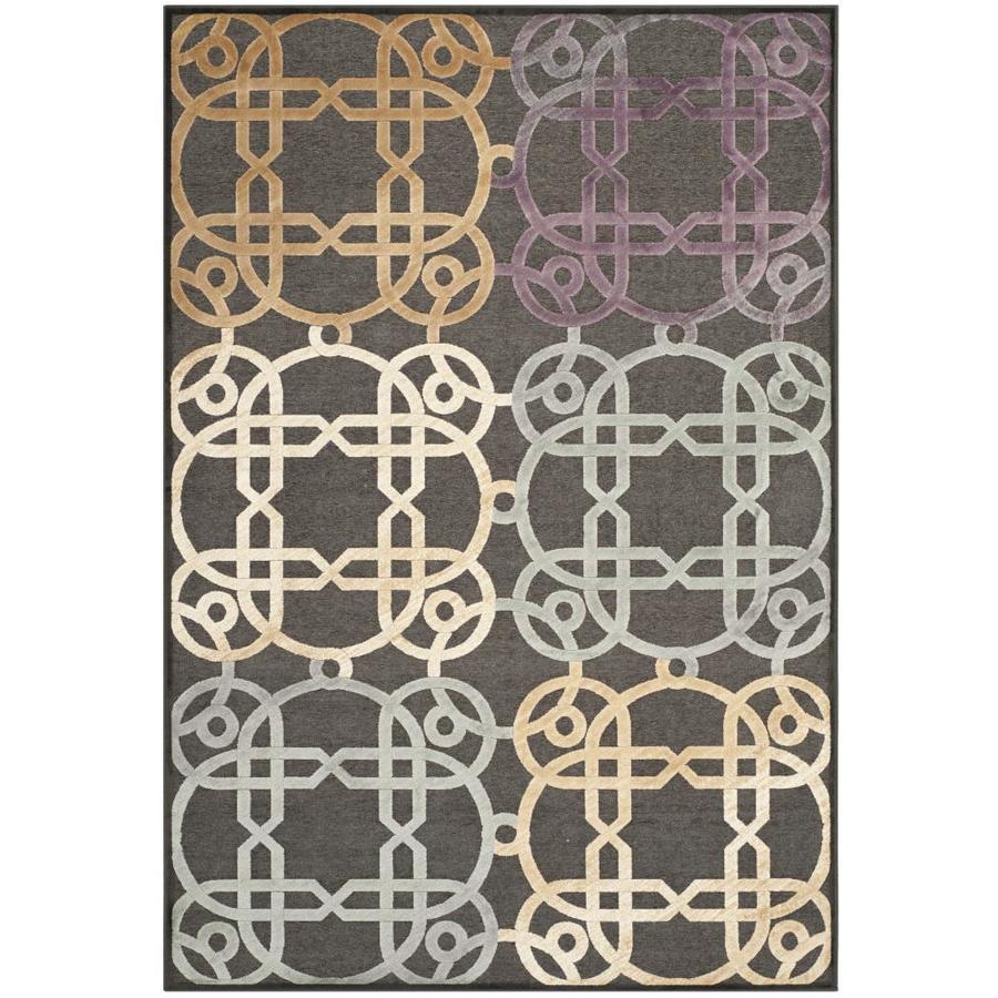 Safavieh Paradise Henderson Charcoal/Multi Rectangular Indoor Machine-made Oriental Area Rug (Common: 5 x 7; Actual: 5.25-ft W x 7.5-ft L)