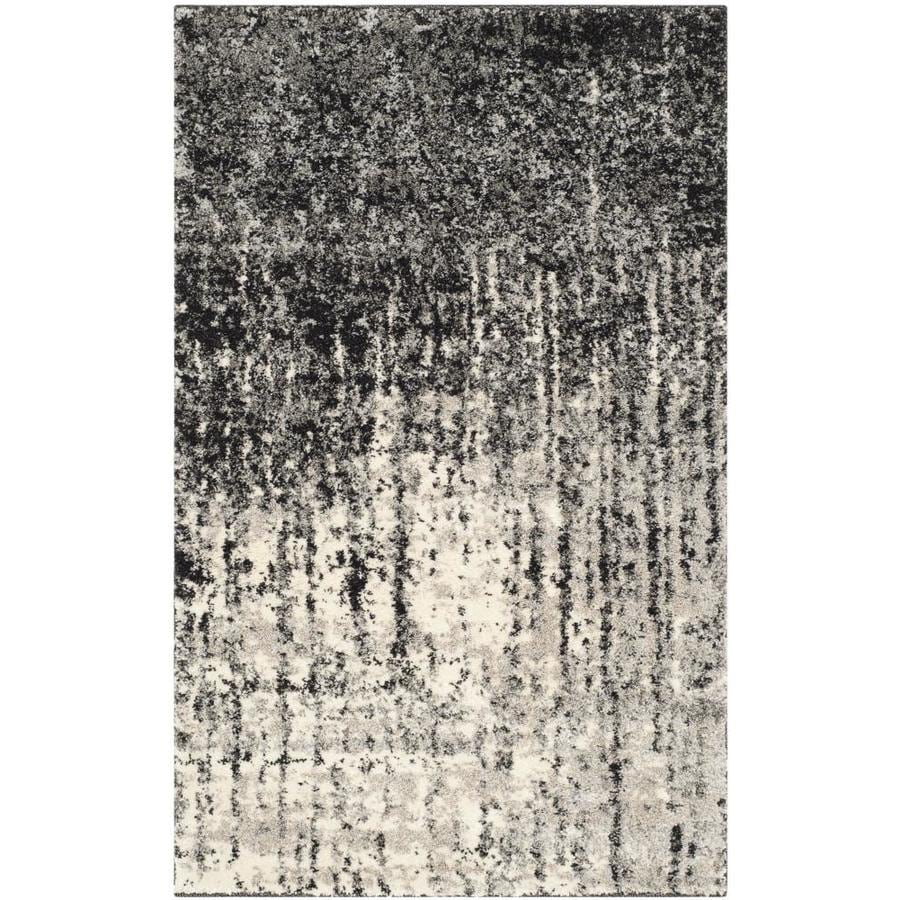 Safavieh Retro Elan Black/Light Gray Rectangular Indoor Machine-made Distressed Throw Rug (Common: 2 x 4; Actual: 2.5-ft W x 4-ft L)