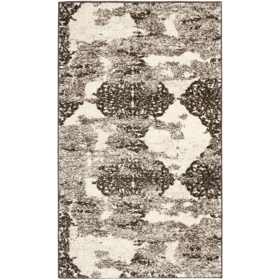 Safavieh Retro Fane Beige/Light Gray Indoor Distressed Throw Rug (Common: 2 x 4; Actual: 2.5-ft W x 4-ft L)