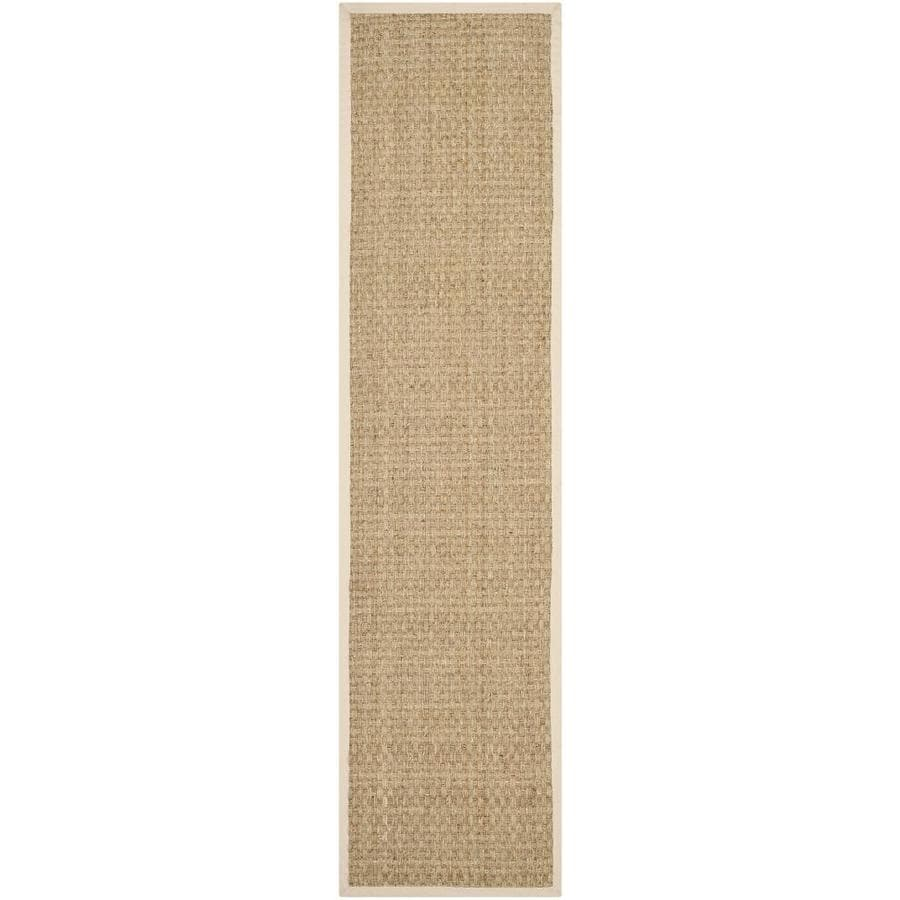 Safavieh Natural Fiber Hampton Natural/Beige Indoor Coastal Runner (Common: 2 x 10; Actual: 2.5-ft W x 10-ft L)
