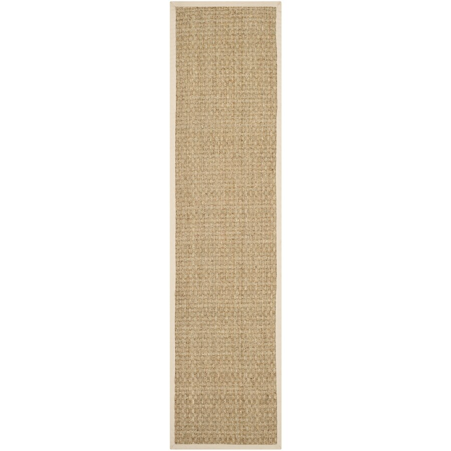 Safavieh Natural Fiber Hampton Natural/Beige Indoor Coastal Runner (Common: 2 x 16; Actual: 2.5-ft W x 16-ft L)