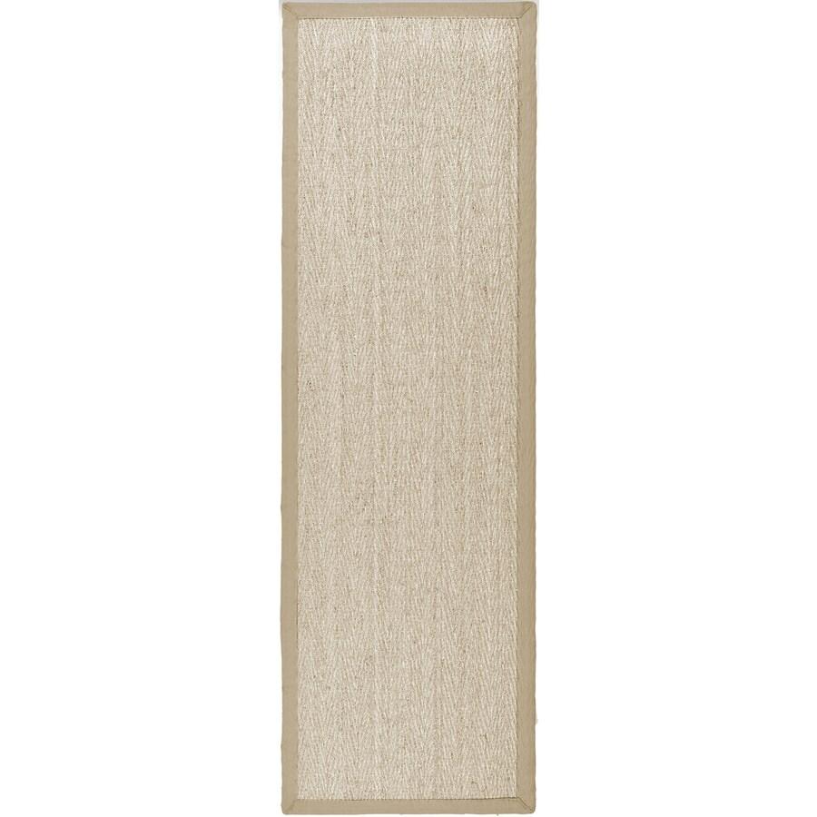 Safavieh Natural Fiber Montauk Natural/Beige Indoor Coastal Runner (Common: 2 x 16; Actual: 2.5-ft W x 16-ft L)