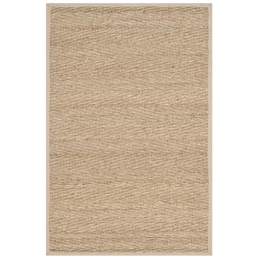 Safavieh Natural Fiber Montauk Natural/Beige Indoor Coastal Throw Rug (Common: 2 x 4; Actual: 2.5-ft W x 4-ft L)