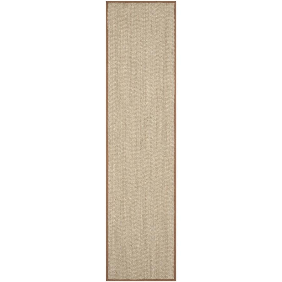 Safavieh Natural Fiber Montauk Natural/Brown Indoor Coastal Runner (Common: 2 x 10; Actual: 2.5-ft W x 10-ft L)