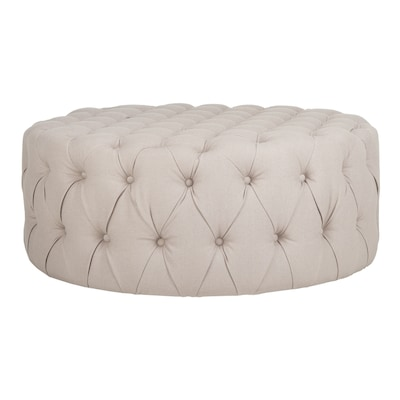 Wondrous Safavieh Charlene Modern Taupe Round Ottoman At Lowes Com Andrewgaddart Wooden Chair Designs For Living Room Andrewgaddartcom
