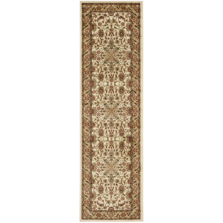 Safavieh Lyndhurst Mashad Ivory/Tan Indoor Oriental Runner (Common: 2 x 20; Actual: 2.25-ft W x 20-ft L)