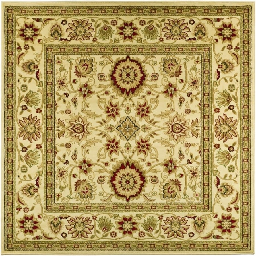 Safavieh Lyndhurst Ivory and Ivory Square Indoor Machine-Made Area Rug (Common: 8 x 8; Actual: 96-in W x 96-in L x 0.5-ft Dia)