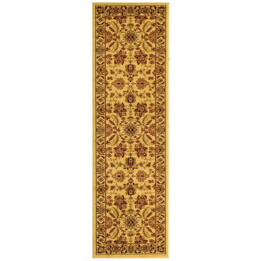 Safavieh Lyndhurst Agra Ivory/Ivory Rectangular Indoor Machine-made Oriental Runner (Common: 2 x 20; Actual: 2.25-ft W x 18-ft L)