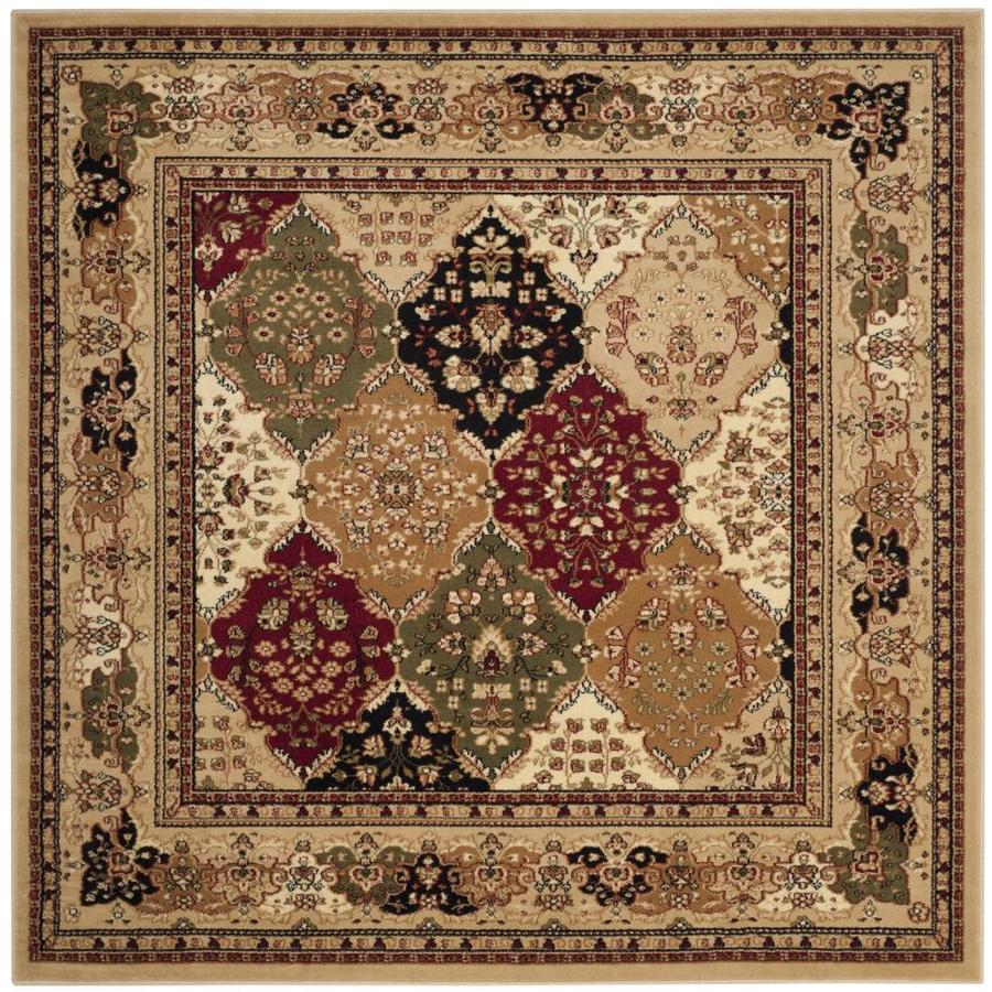 Safavieh Lyndhurst Diamond Baktiari Black Square Indoor Oriental Area Rug (Common: 6 x 6; Actual: 6-ft W x 6-ft L)