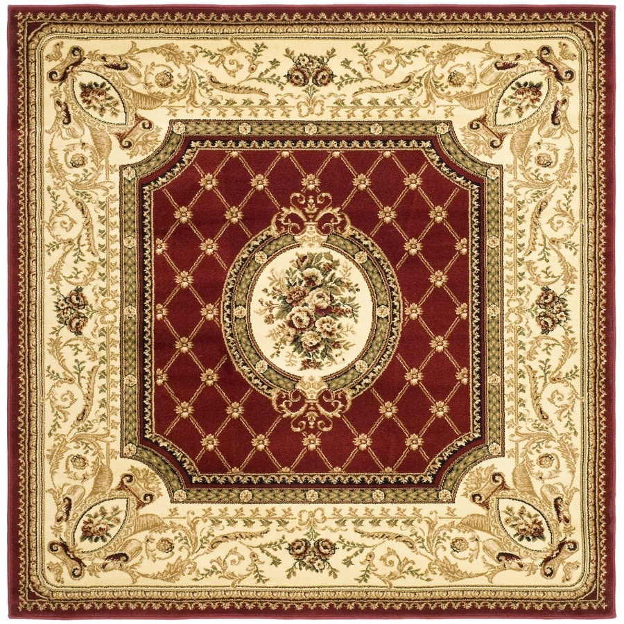 Safavieh Lyndhurst Seville Red/Ivory Square Indoor Oriental Area Rug (Common: 6 x 6; Actual: 6-ft W x 6-ft L)