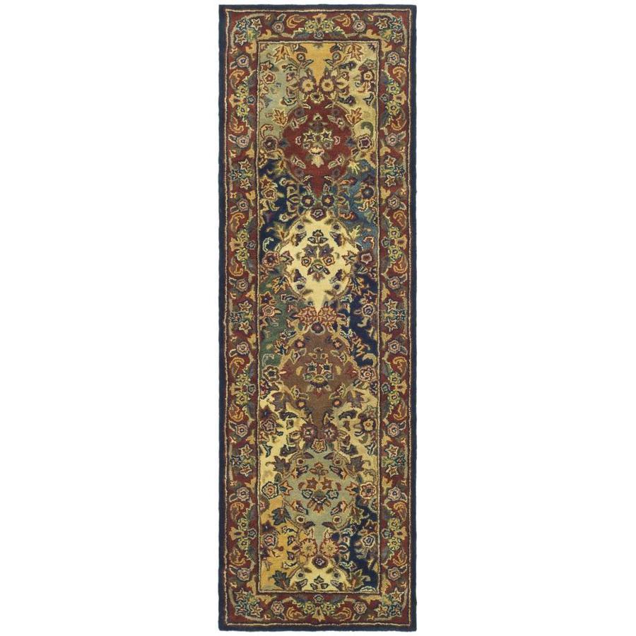 Safavieh Heritage Abaya Burgundy Indoor Handcrafted Oriental Runner (Common: 2 x 16; Actual: 2.25-ft W x 16-ft L)