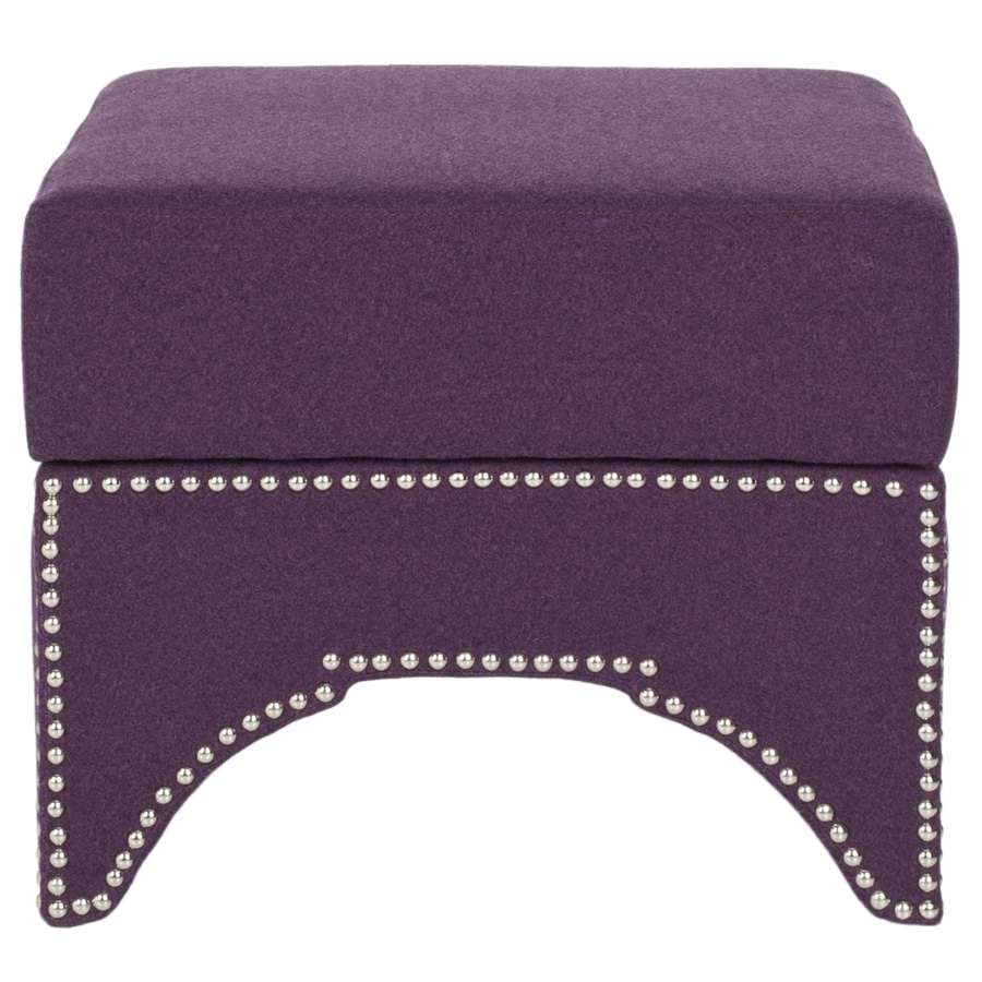 Safavieh Mercer Plum Square Storage Ottoman