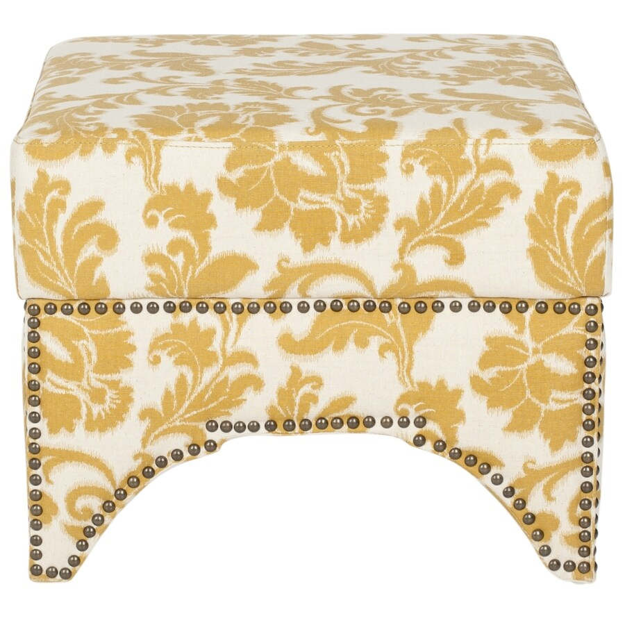 Safavieh Mercer Maize/Beige Square Storage Ottoman
