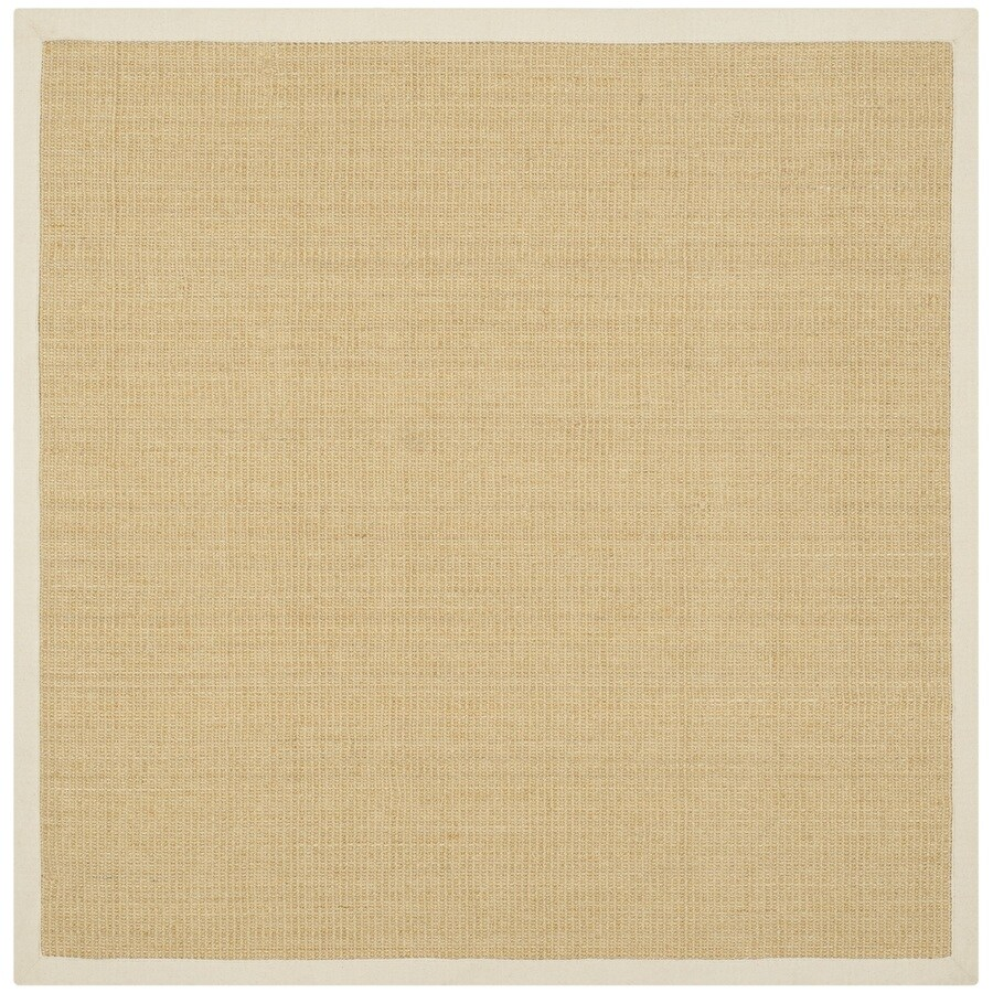 Safavieh Natural Fiber Saltaire Maize/Wheat Square Indoor Coastal Area Rug (Common: 6 x 6; Actual: 6-ft W x 6-ft L)