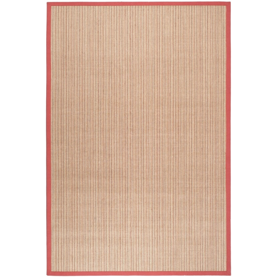 Safavieh Natural Fiber Groves Rust/Rust Indoor Coastal Area Rug (Common: 5 x 8; Actual: 5-ft W x 8-ft L)