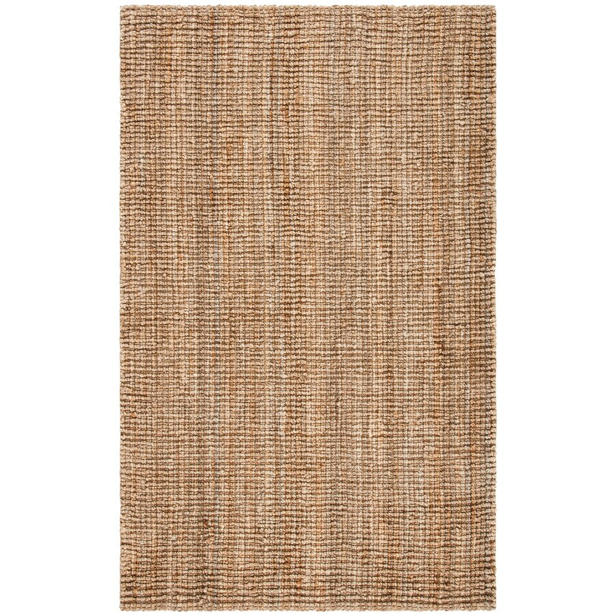 Safavieh Natural Fiber Bellport Natural Rectangular Indoor Handcrafted Coastal Area Rug (Common: 5 x 7; Actual: 5-ft W x 8-ft L)