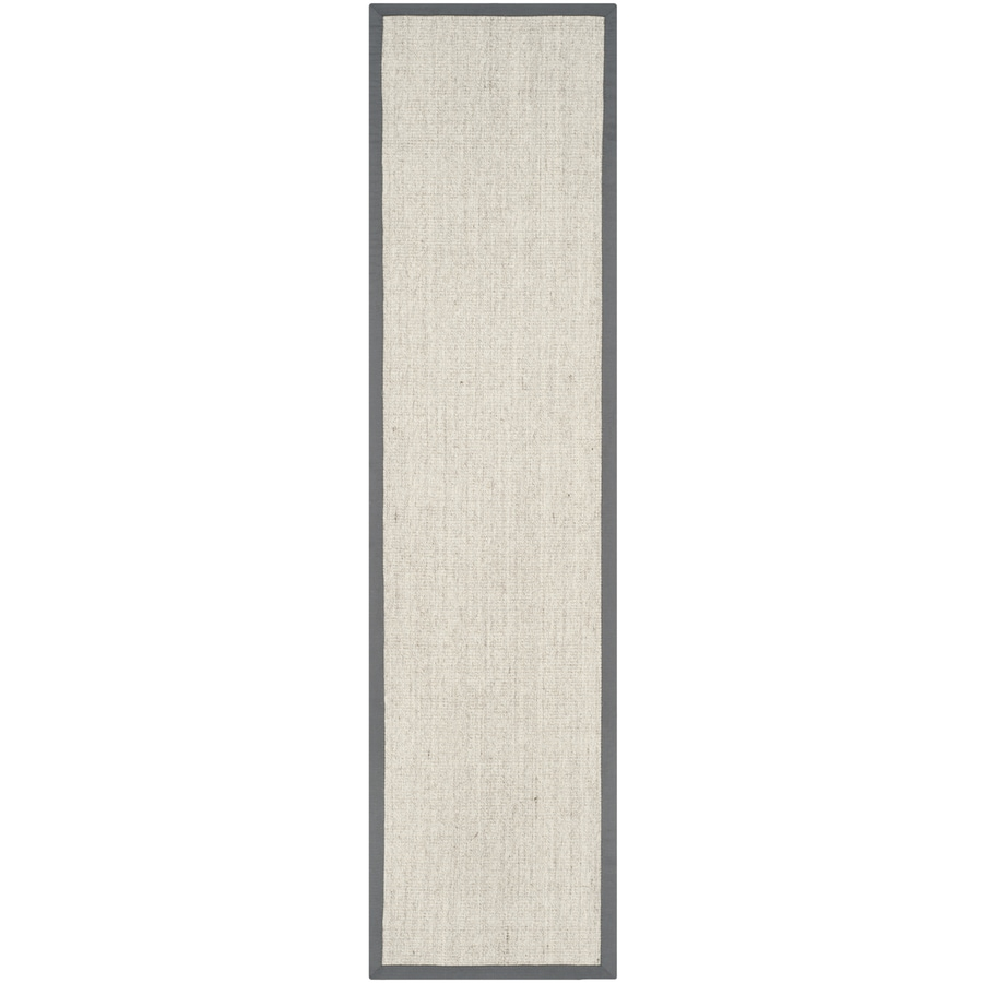 Safavieh Natural Fiber Saltaire Marble/Gray Rectangular Indoor Machine-made Coastal Runner (Common: 2 x 20; Actual: 2.5-ft W x 20-ft L)