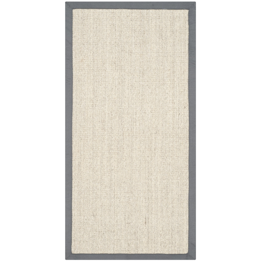 Safavieh Natural Fiber Saltaire Marble/Gray Indoor Coastal Throw Rug (Common: 2 x 4; Actual: 2.5-ft W x 4-ft L)