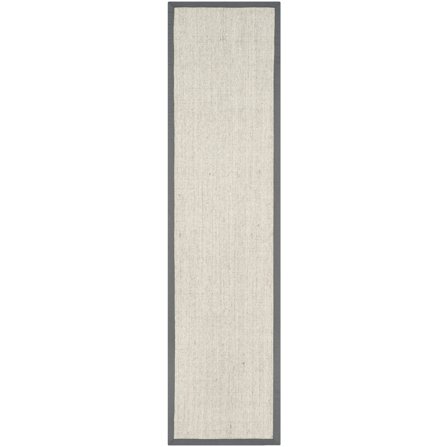 Safavieh Natural Fiber Saltaire Marble/Gray Rectangular Indoor Machine-made Coastal Runner (Common: 2 x 6; Actual: 2.5-ft W x 6-ft L)