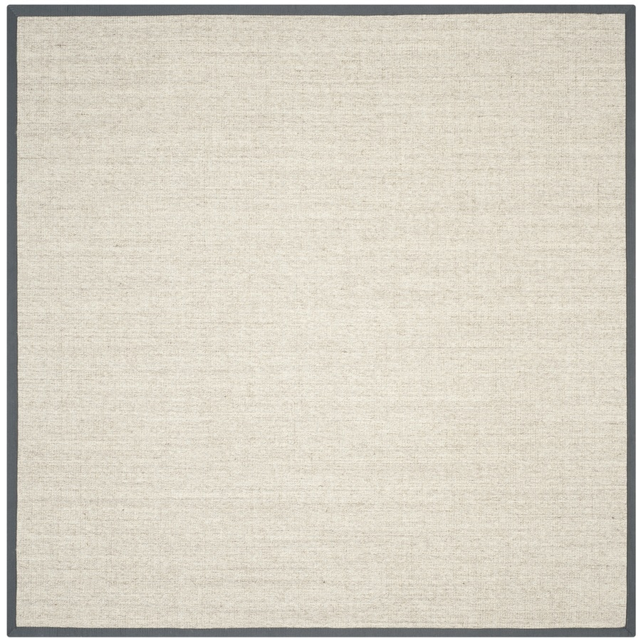 Safavieh Natural Fiber Saltaire Marble/Gray Square Indoor Machine-made Coastal Area Rug (Common: 6 x 6; Actual: 6-ft W x 6-ft L)