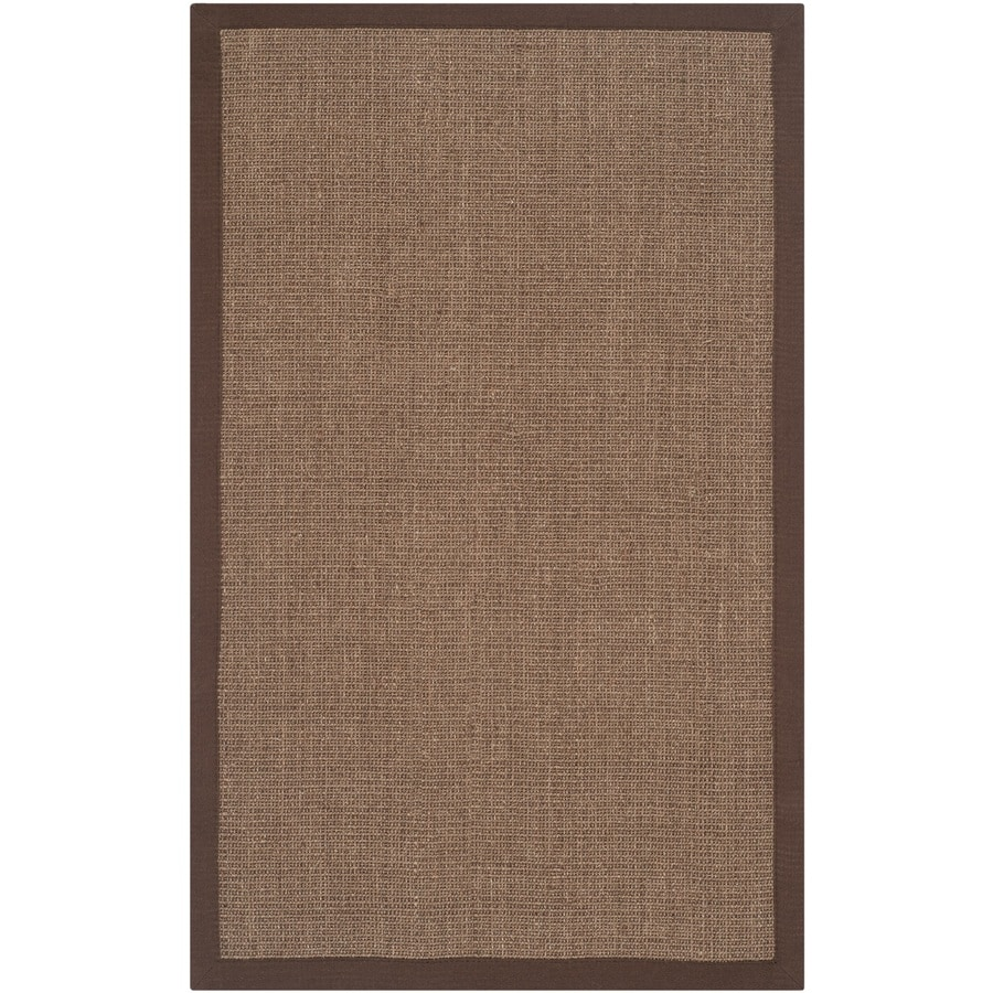 Safavieh Natural Fiber Saltaire Brown/Brown Rectangular Indoor Machine-Made Coastal Throw Rug (Common: 2 x 4; Actual: 2.5-ft W x 4-ft L)