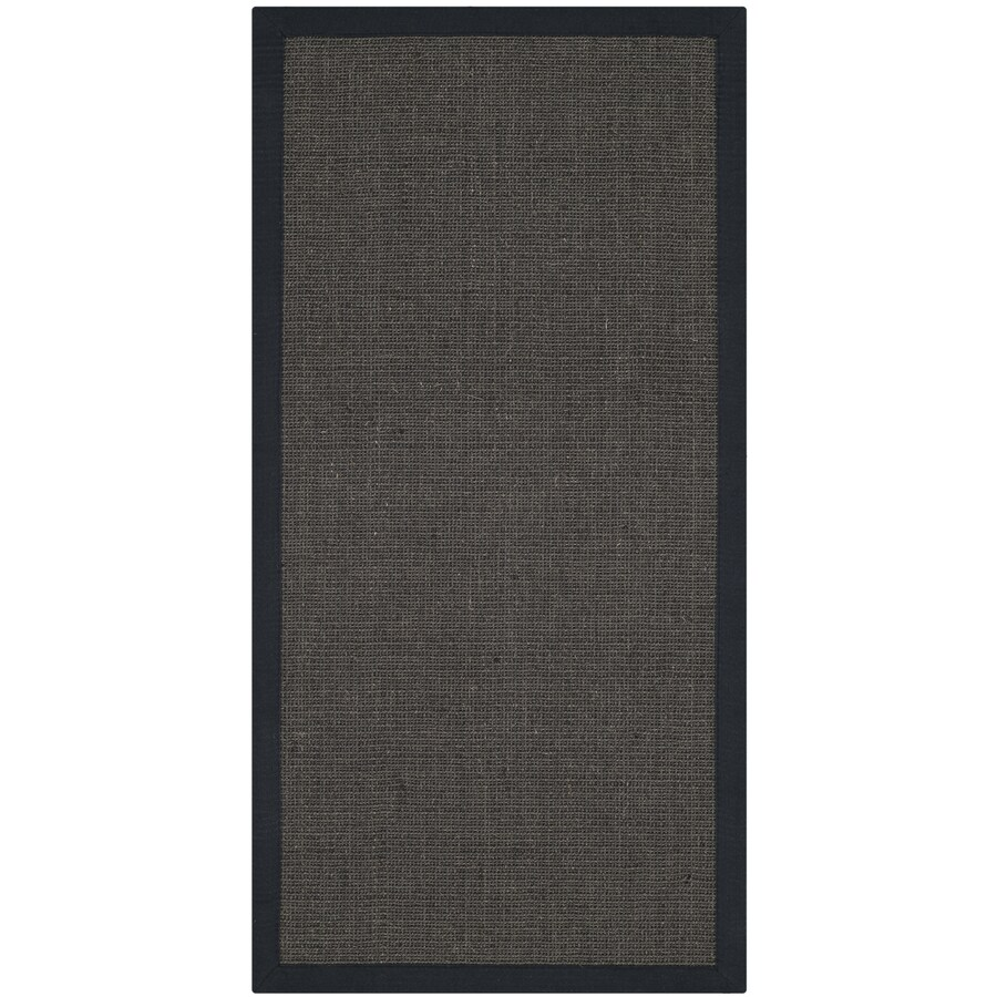 Safavieh Natural Fiber Saltaire Charcoal/Charcoal Rectangular Indoor Machine-made Coastal Throw Rug (Common: 2 x 4; Actual: 2.5-ft W x 4-ft L)