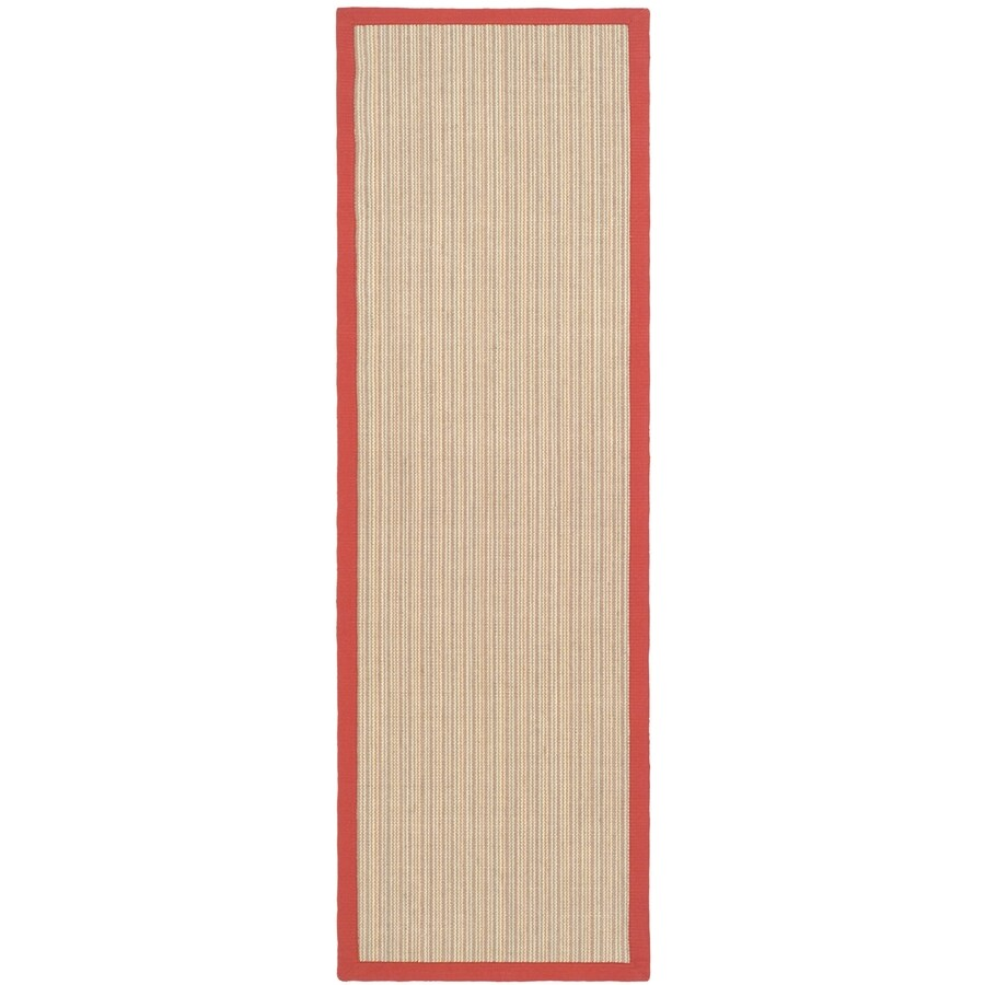 Safavieh Natural Fiber Groves Rust/Rust Indoor Coastal Runner (Common: 2 x 12; Actual: 2.5-ft W x 12-ft L)