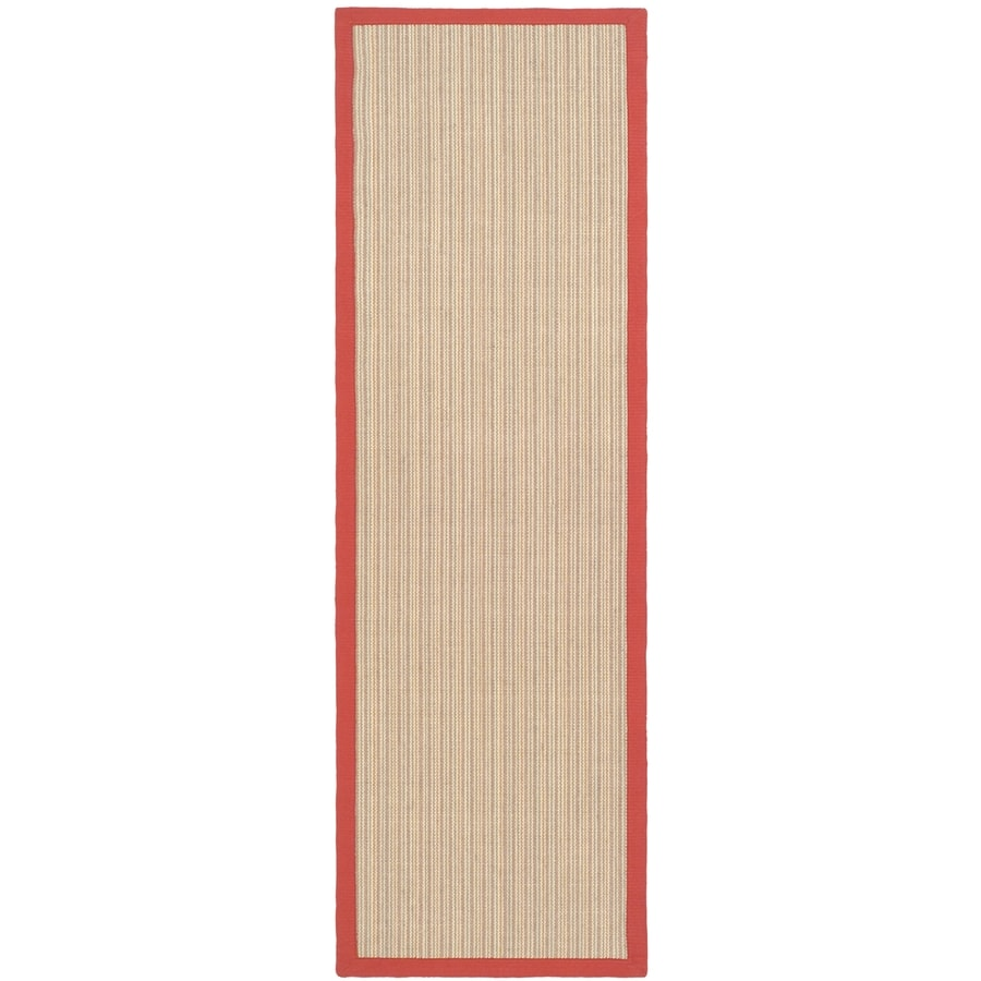 Safavieh Natural Fiber Groves Rust Indoor Coastal Runner (Common: 2 x 6; Actual: 2.5-ft W x 6-ft L)