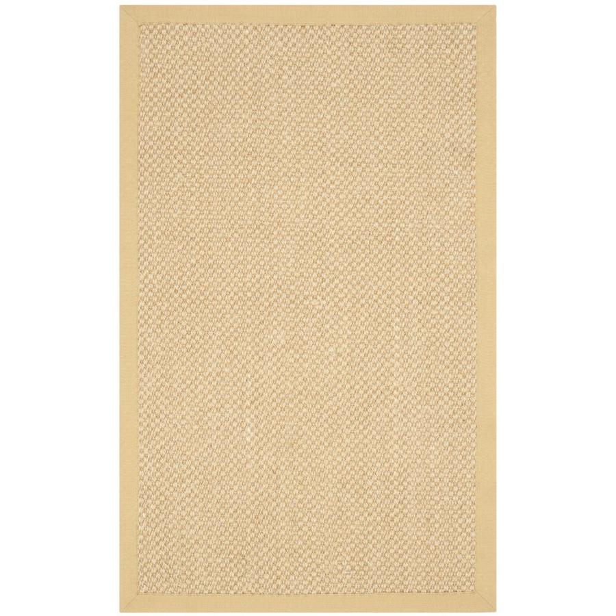 Safavieh Natural Fiber Maize and Wheat Rectangular Indoor Machine-Made Throw Rug (Common: 2 x 4; Actual: 2.5-ft W x 4-ft L)