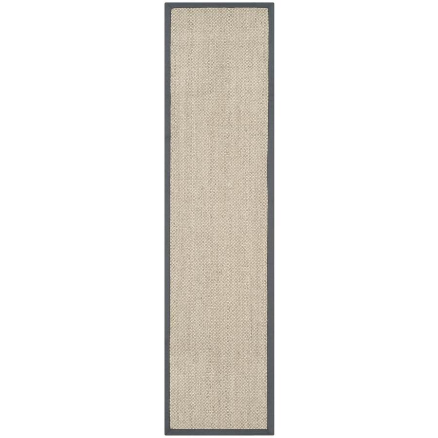 Safavieh Natural Fiber Kismet Marble/Gray Indoor Coastal Runner (Common: 2 x 10; Actual: 2.5-ft W x 10-ft L)