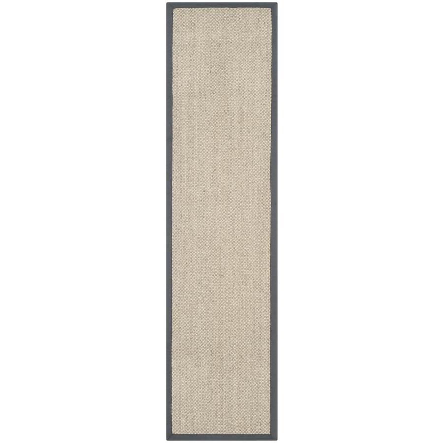 Safavieh Natural Fiber Kismet Marble/Gray Indoor Coastal Runner (Common: 2 x 14; Actual: 2.5-ft W x 14-ft L)