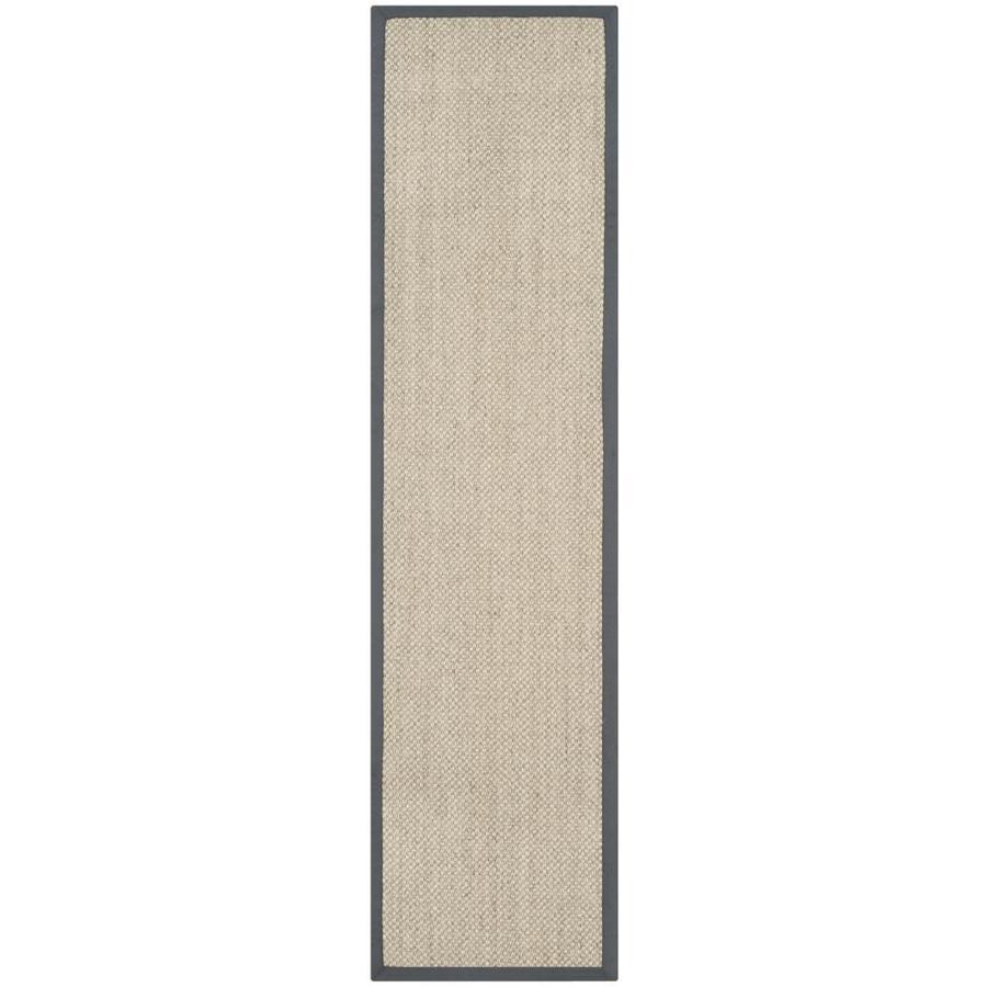 Safavieh Natural Fiber Kismet Marble/Gray Indoor Coastal Runner (Common: 2 x 16; Actual: 2.5-ft W x 16-ft L)