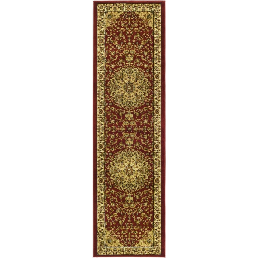Safavieh Lyndhurst Nain Red/Ivory Indoor Oriental Runner (Common: 2 x 16; Actual: 2.25-ft W x 16-ft L)