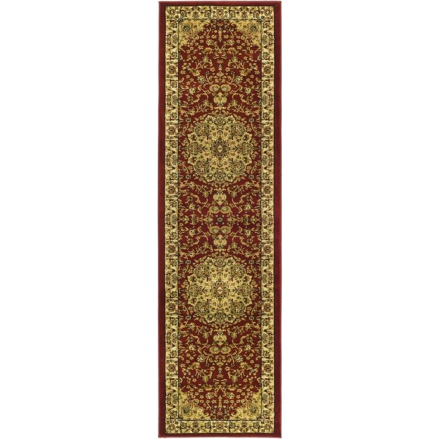 Safavieh Lyndhurst Nain Red/Ivory Rectangular Indoor Machine-made Oriental Runner (Common: 2 x 16; Actual: 2.25-ft W x 16-ft L)